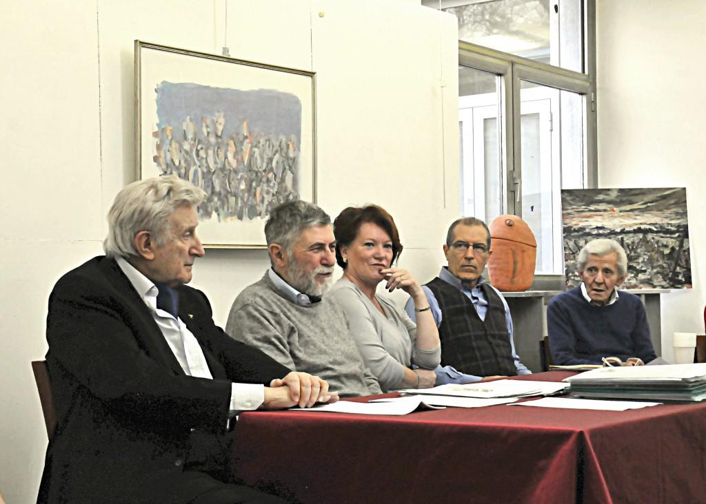 2018 11 marzo Martano, Valtorta, Rita Riboldi, scultori Ambro Moioli e Natalino Longoni