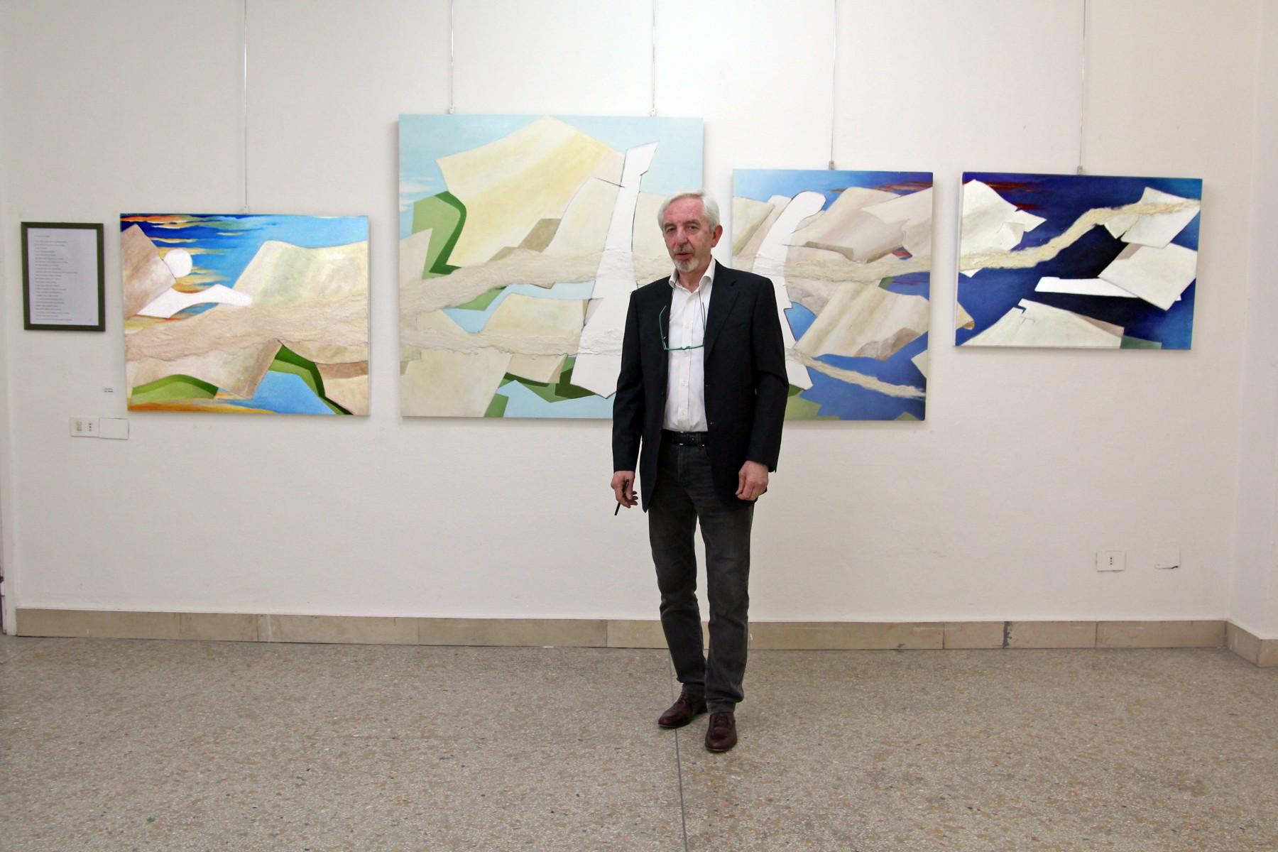 """FAMIGLIA aRTISTICA lISSONESE """"Orientamenti geometrici""""Mostra di pittura"""