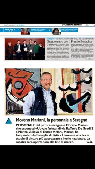 Moreno Mariani uova e farina articolo fal