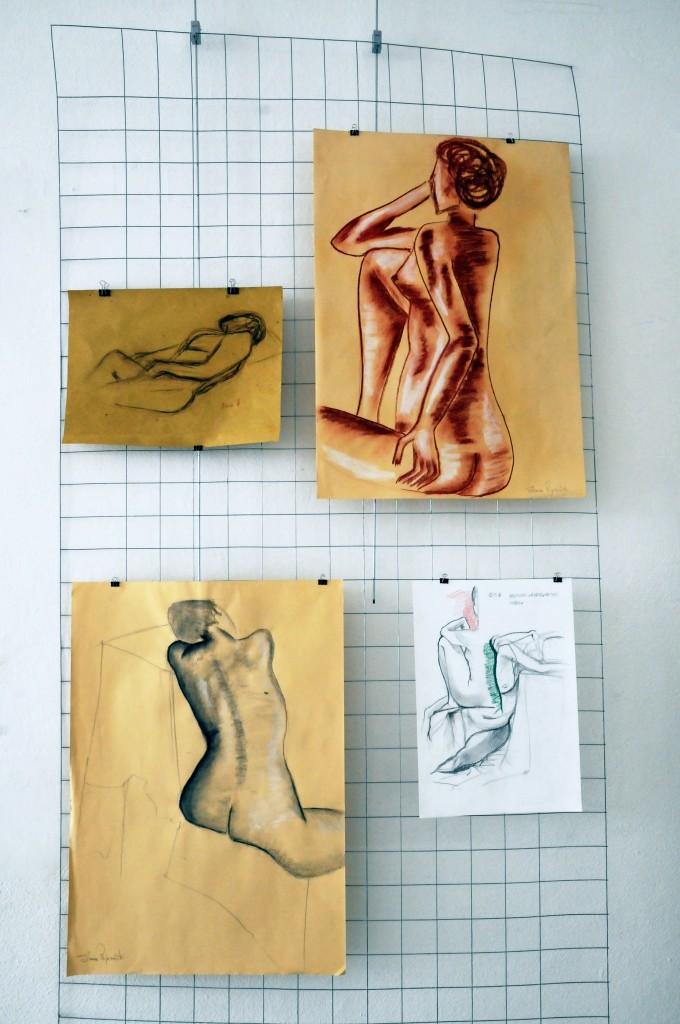 Foto il corpo disegnato su gabbia Antonio (7)